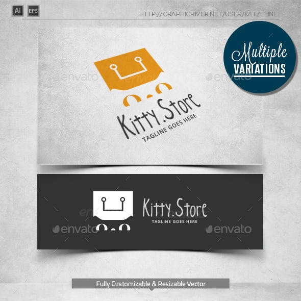 Kitty Store - Logo Template