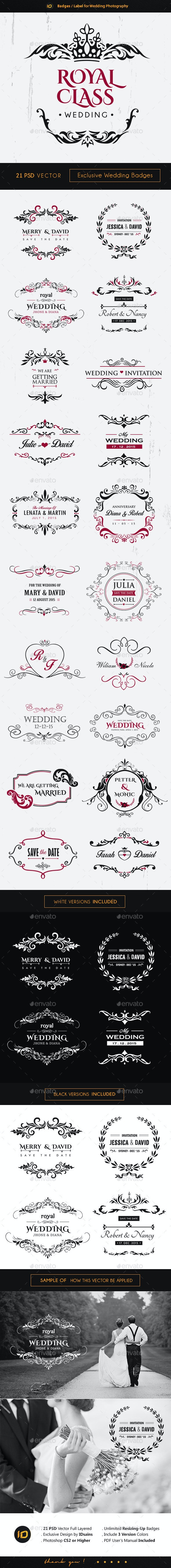 21 Premium Wedding Badges - Badges & Stickers Web Elements