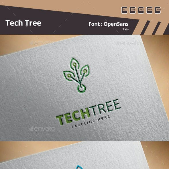 Tech Tree Logo Template