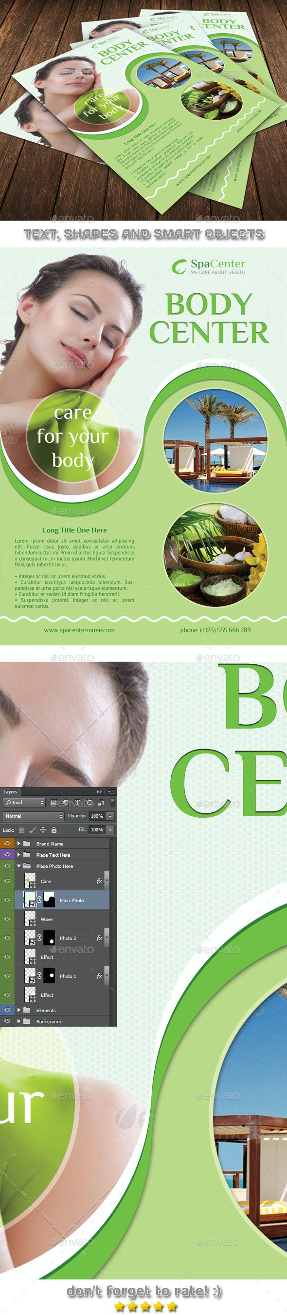 Spa Body Center Template 55 - Flyers Print Templates