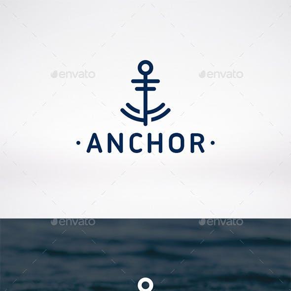 Anchor Mark Logo Template