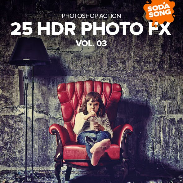 25 HDR Photo FX V.3 - Photoshop Action