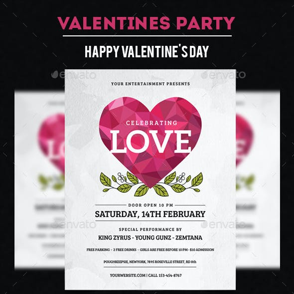 Valentine White Party Flyer