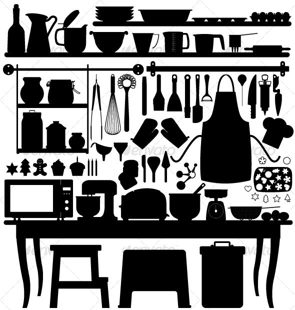 Baking Pastry Kitchen Tool Silhouette - Man-made Objects Objects
