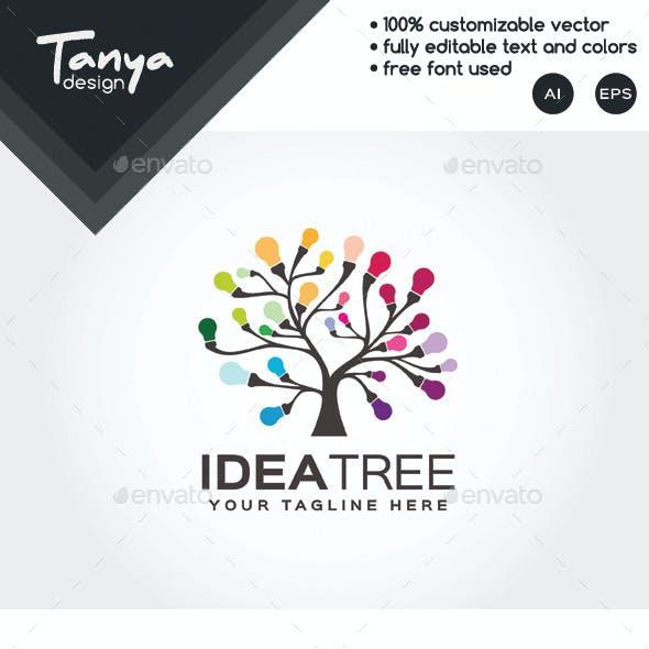 Idea Tree Logo Template