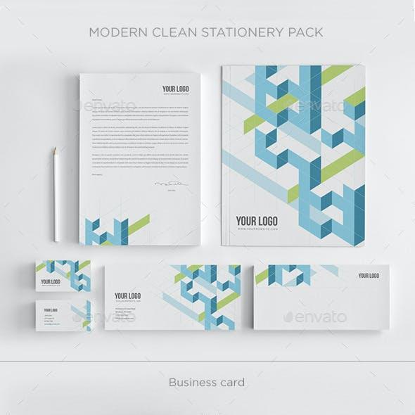 Modern Clean Stationery