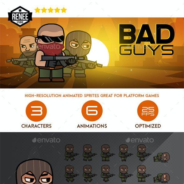 Bad Guys Animated Spritesheet Pack