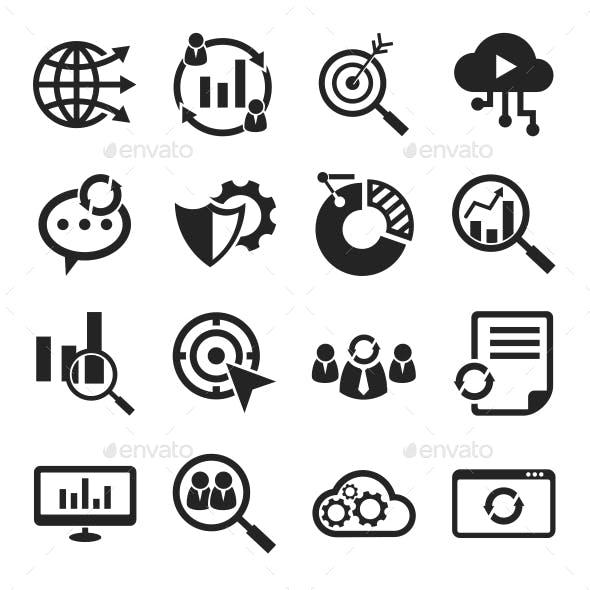 Seo Icons Black
