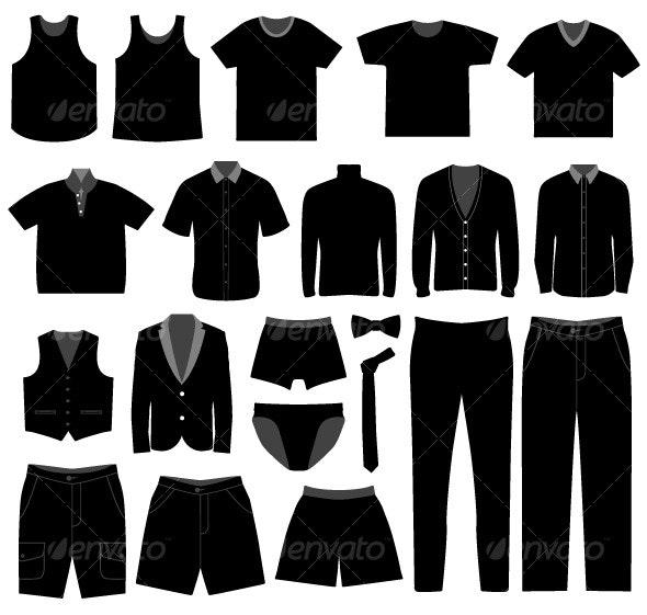 Men Male Apparel Shirt Cloth Fashion Wear - Man-made Objects Objects