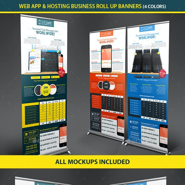 Web App Tech & Hosting Roll Up Banners