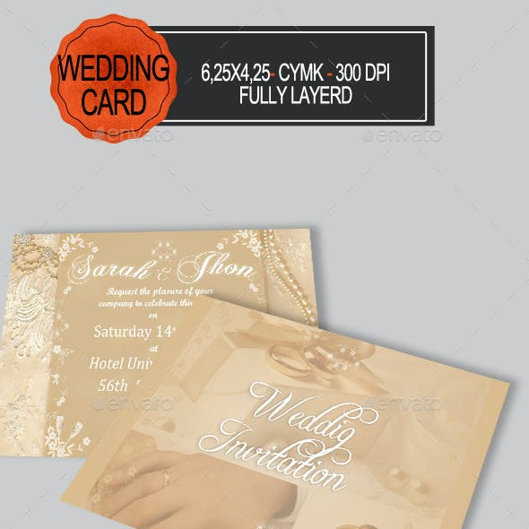 Elegant Wedding Card Invitation