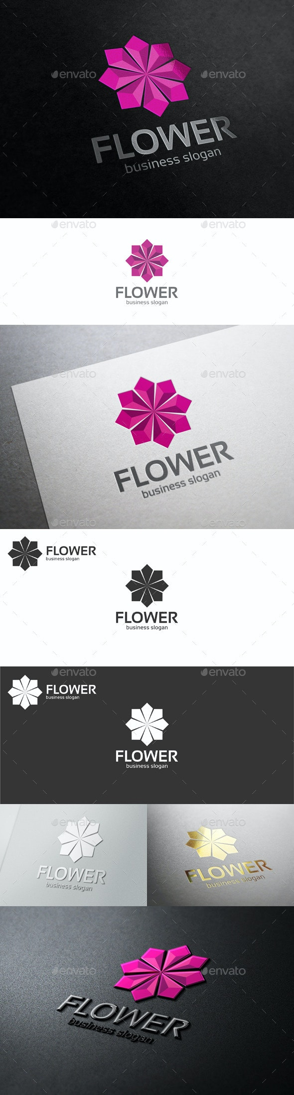 Flower Jewelry Corporate Business Logo - Vector Abstract
