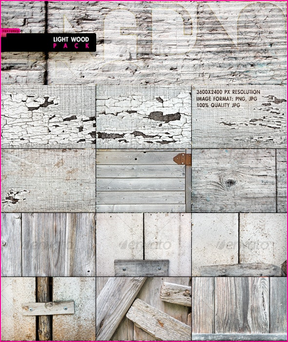 Light Wood Pack - Wood Textures