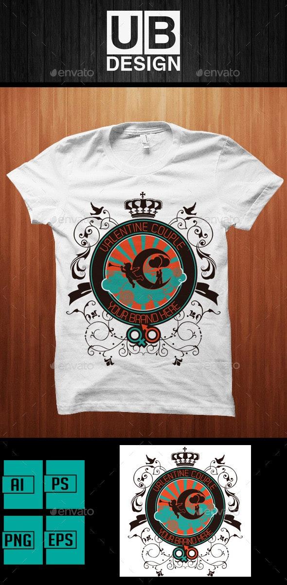 Romantic Valentine T-Shirt Design - Events T-Shirts