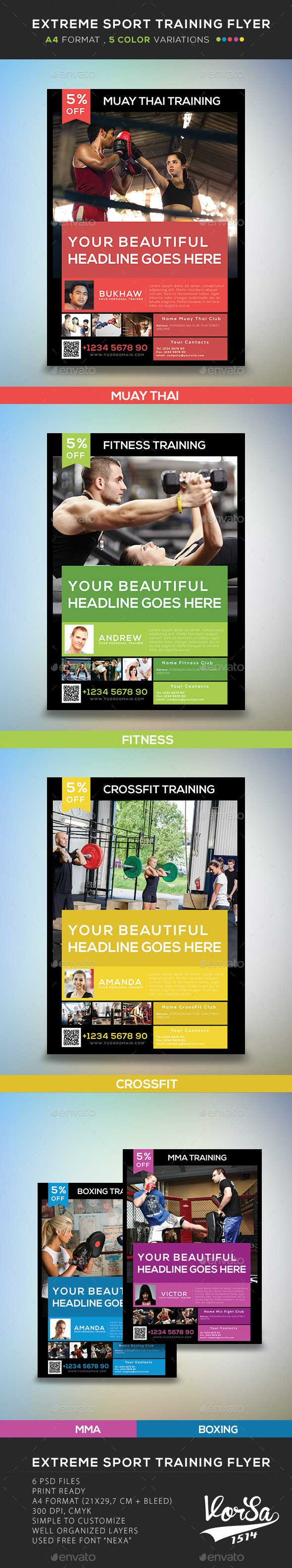 Extreme Sport Training Flyer - Corporate Flyers