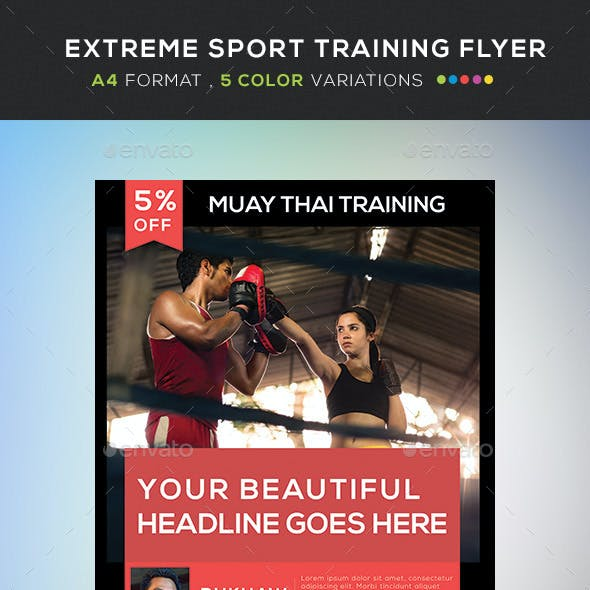 Extreme Sport Training Flyer