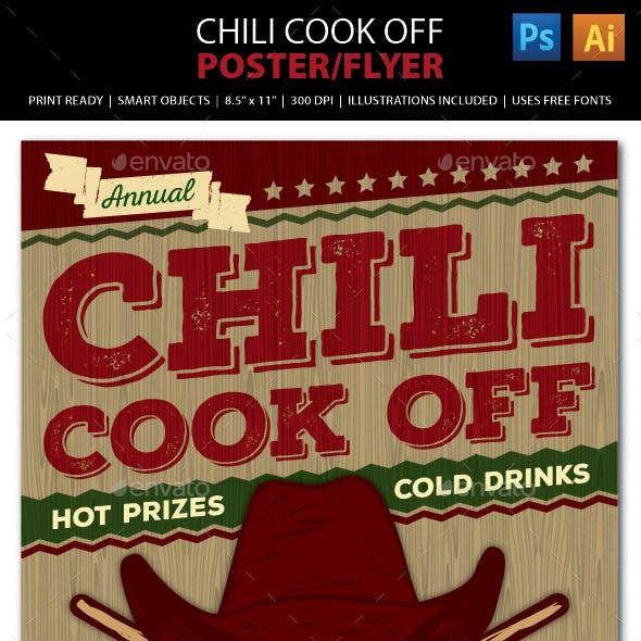 Chili Cook Off Competition Poster, Flyer or Ad