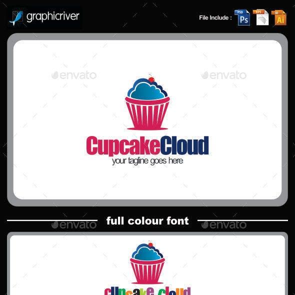 cupcake cloud logo template