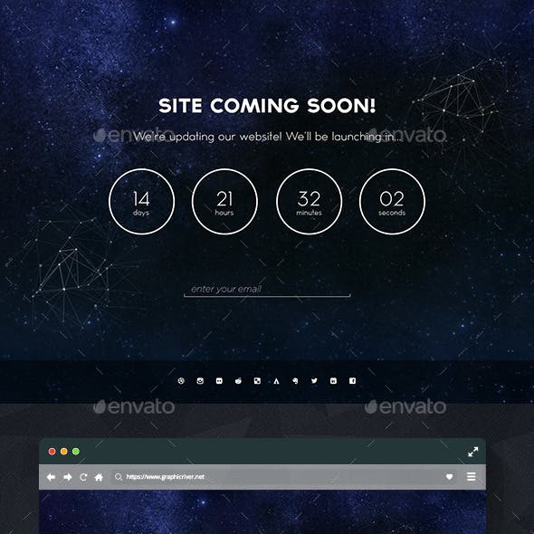 Creative Galaxy Coming Soon PSD Template