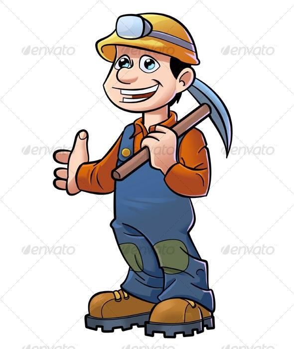 Mining mascot - Characters Illustrations