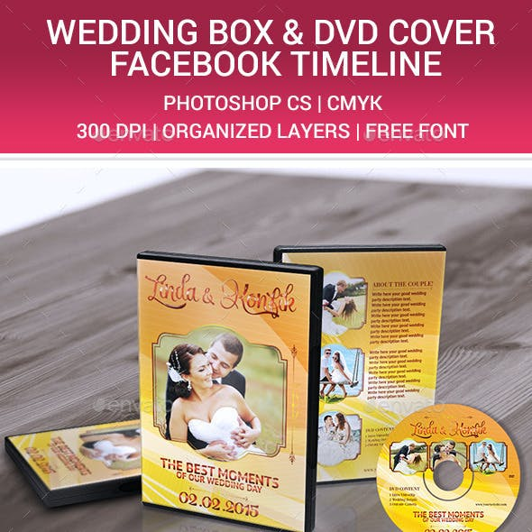 Wedding DVD Cover & CD Label v10