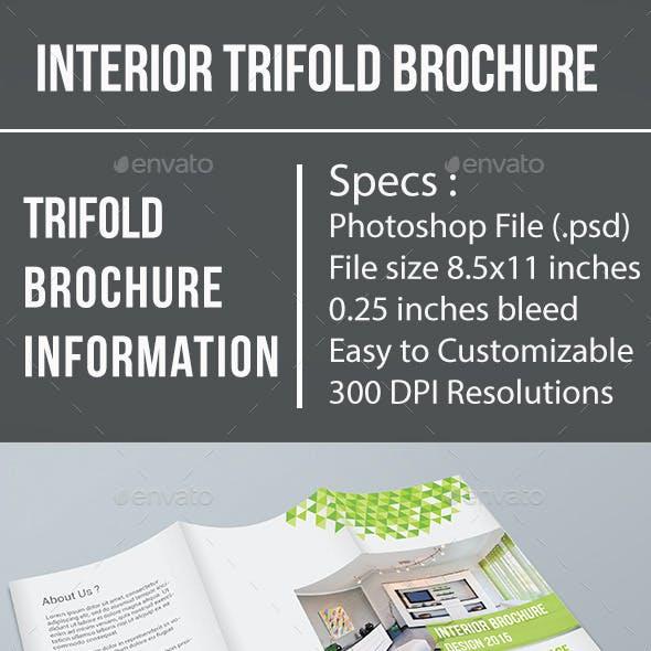Interior Trifold Brochure