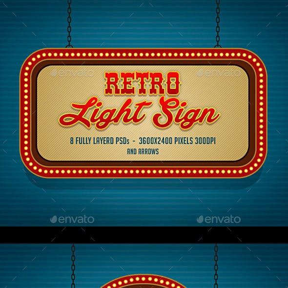 Retro Light Sign