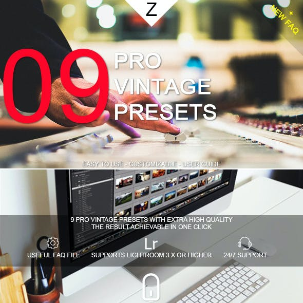9 Pro Vintage Presets