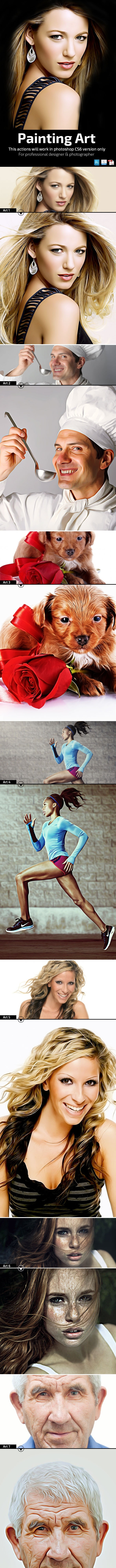 Painting Art - Photo Effects Actions