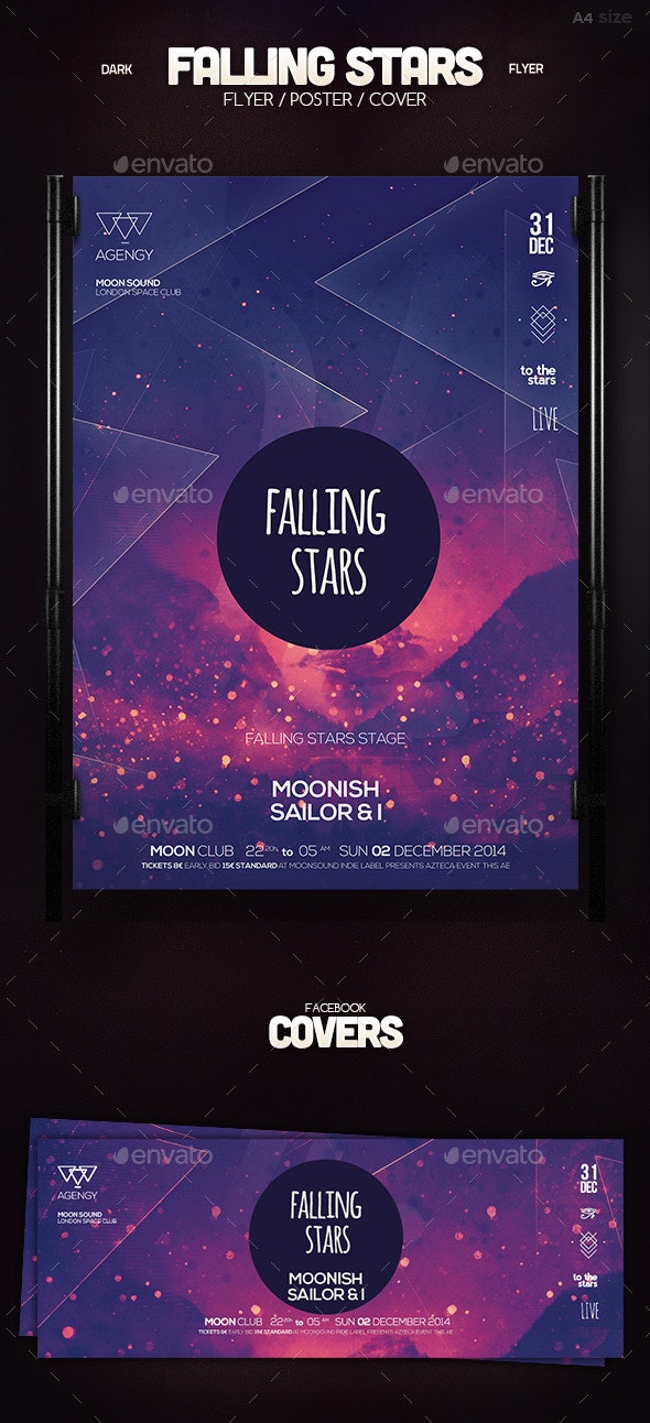 Falling Stars Poster - Clubs & Parties Events