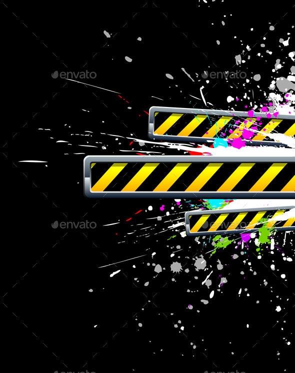 Industrial Background with Grunge Splash - Industries Business