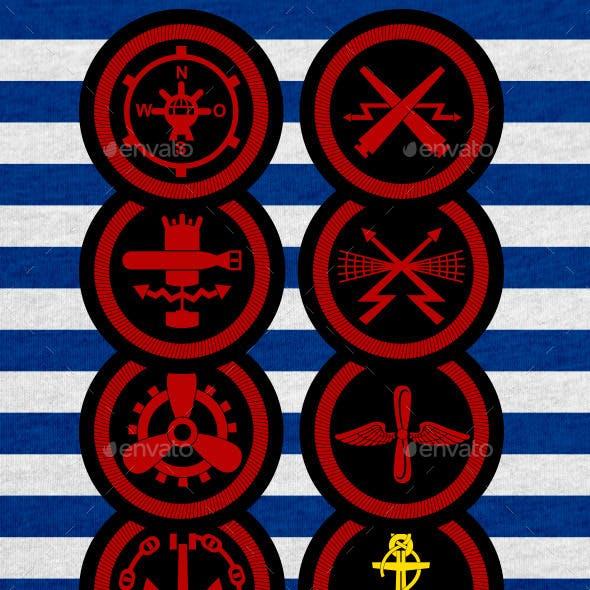 Stripes of Fleet of the USSR