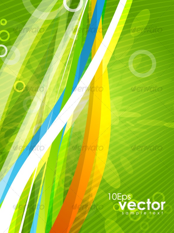 Colorful wavy abstract background - Backgrounds Decorative