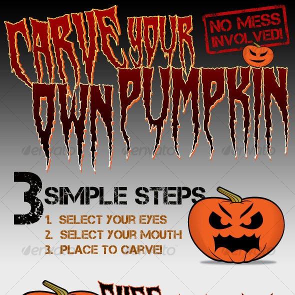 Carve your own Pumpkin/Jack-o'-Lantern