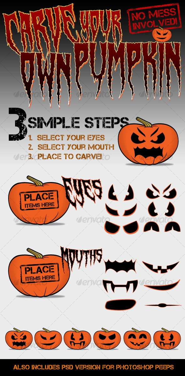 Carve your own Pumpkin/Jack-o'-Lantern - Miscellaneous Characters