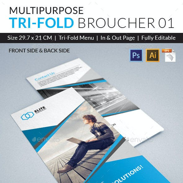 Trifold Brochure with PSD