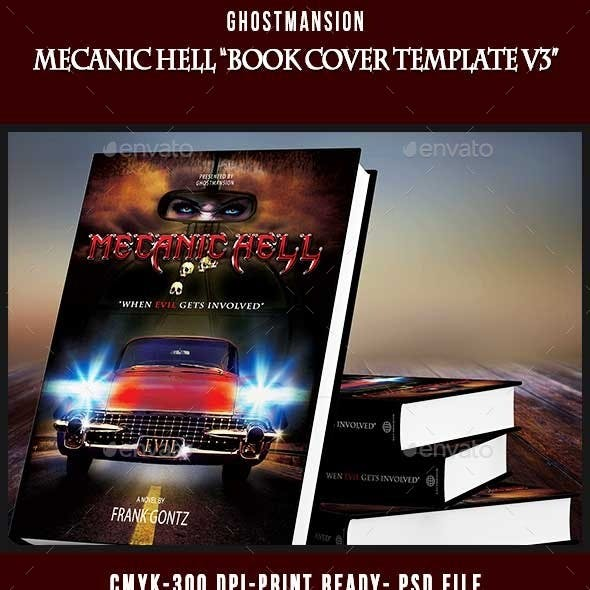 Book Cover Template PSD V3