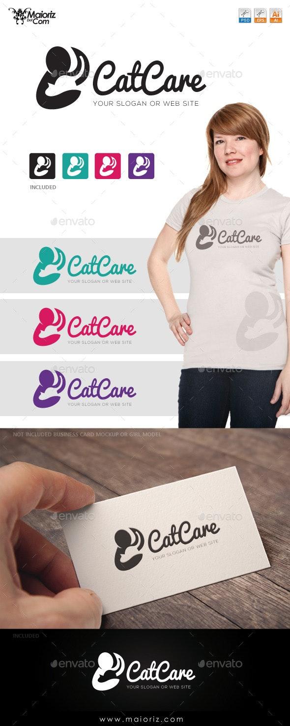 Cat Care Logo Template - Animals Logo Templates