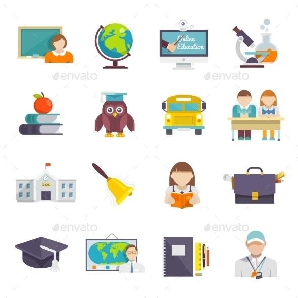 School Icon Flat