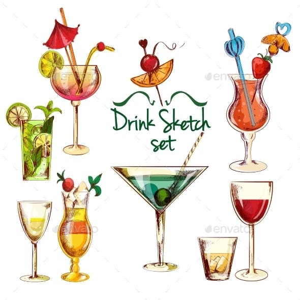 Sketch Cocktail Set