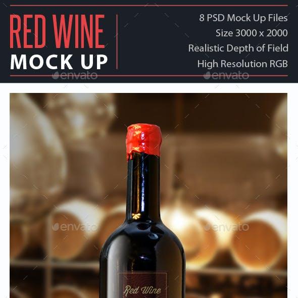 Red Wine Mock Up