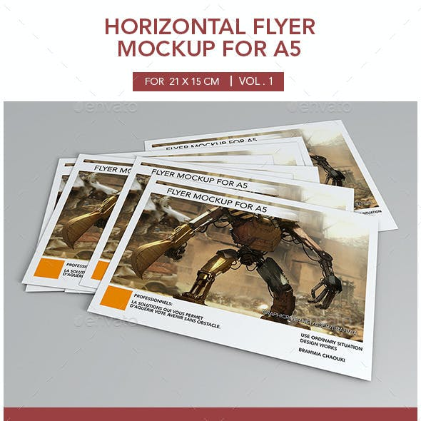 Horizontal Flyer Mockup for A5