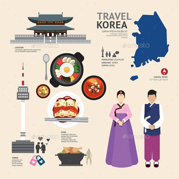 Infographic Korea Travel Design