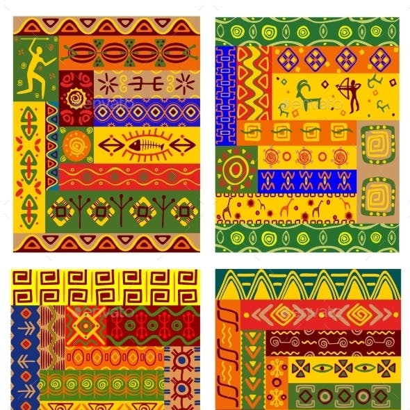 Ethnic Abstract Pattern in African Style