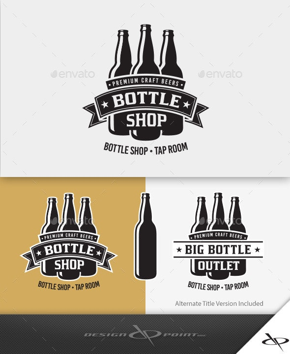 Bottle Shop Logo - Crests Logo Templates