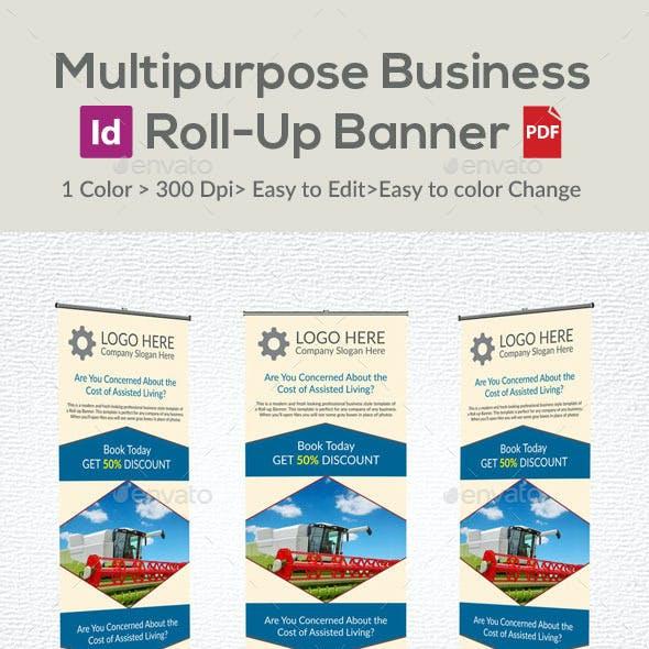 Multipurpose Business Roll-Up Banner