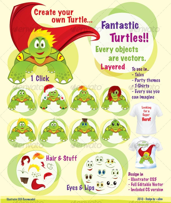 Turtles!! - Animals Characters