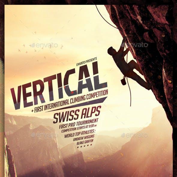 Vertical - Climbing, Bouldering Flyer Template