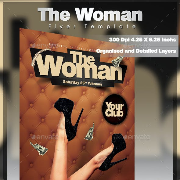 The Woman Flyer Template