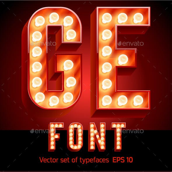 Lamp Board Alphabet